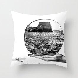 Castel dell' Ovo Napoli Throw Pillow