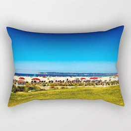 The Beach at the Hotel Del Coronado Rectangular Pillow