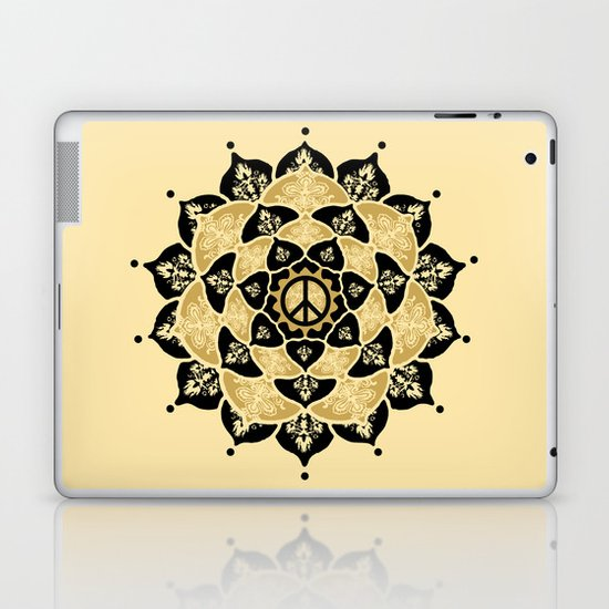 Lotus Peace Print Gold Edition Laptop & iPad Skin