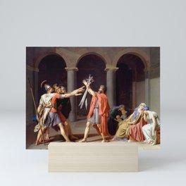 Oath of the Horatii - Jacques-Louis David -1786 Mini Art Print