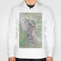 birdman Hoodies featuring blackdeath birdman by melissa E