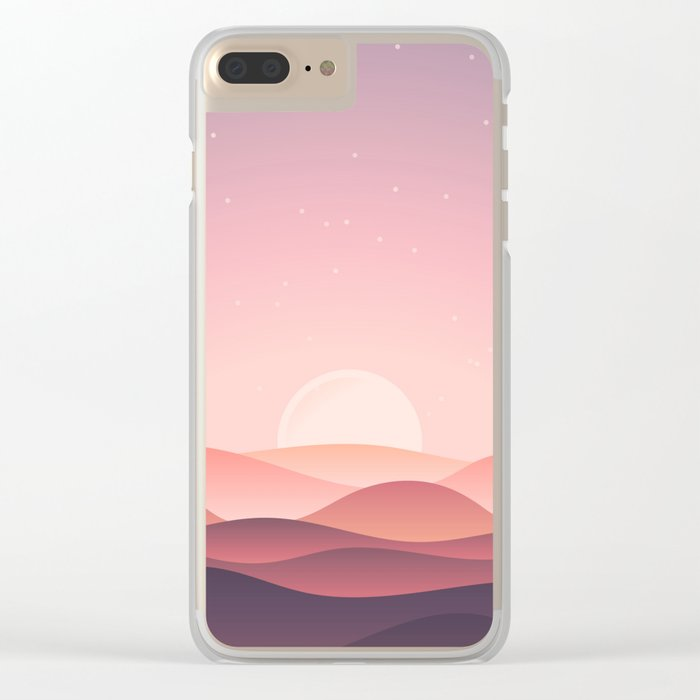 Moon hills Clear iPhone Case