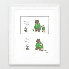 Cuddle Framed Art Print