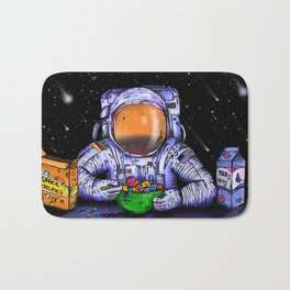 Astronaut's Breakfast Bath Mat