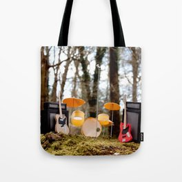 If a band plays in the forest ...... Tote Bag