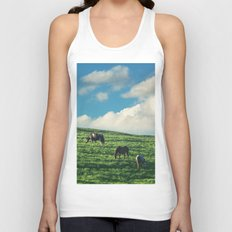 Horses on the Hill Unisex Tank Top