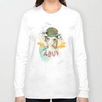 war Long Sleeve T-shirts featuring War girl by Ariana Perez
