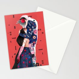 """LOVE"" (Turn your head to the sky, we're burning in the heat below) Stationery Cards"