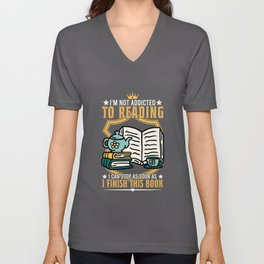 Reading books bookworm chapter Unisex V-Neck