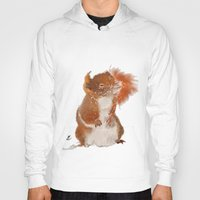 furry Hoodies featuring Furry Friend by tgronberg