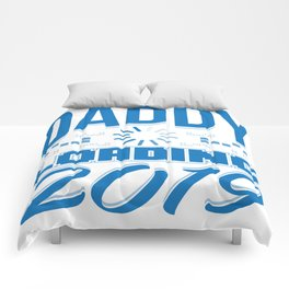 Baby Is Loading Boy Girl For Dad Announcement Gift Comforters