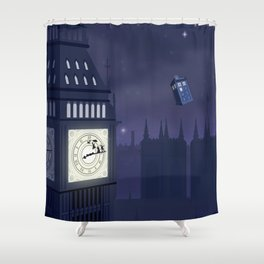 Second Star to the Right, Straight on to Gallifrey Shower Curtain