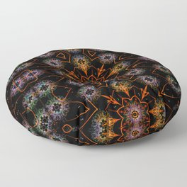 Floral Fractals Floor Pillow