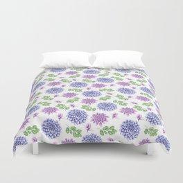 Lavender Garden Pattern Duvet Cover