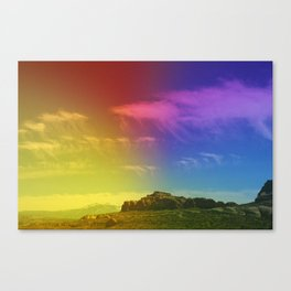 octopus clouds  Canvas Print