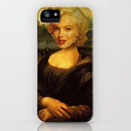 Mona Lisa & Marylin iPhone Case