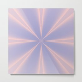 Fractal Pinch in Rose Quartz and Serenity Metal Print
