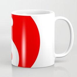 Yin & Yang (Red & White) Coffee Mug
