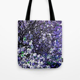 TREES PURPLE AND WHITE Tote Bag