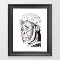 sheikh ibrahim nyass Framed Art Print