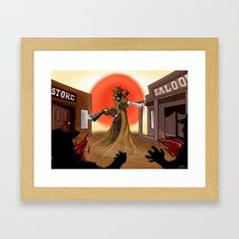 Gunslinger Framed Art Print