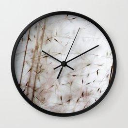 White pampas grass I Wall Clock