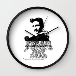Nikola Tesla was a punk Wall Clock