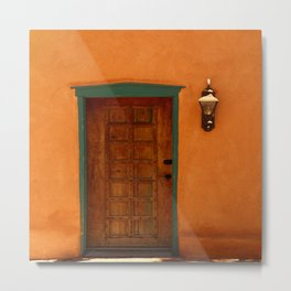 A Santa Fe  Door Metal Print