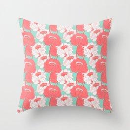 Peony Garden Spring Breeze Throw Pillow