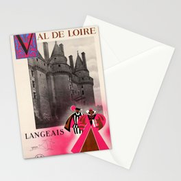 Vintage Travel Loire Valley Stationery Cards
