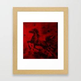 HORSE - RED Framed Art Print