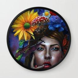 Mind Blown Oil Painting Wall Clock