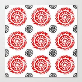Sun mandala pattern Canvas Print