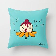 Peach Melba Throw Pillow