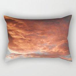 Rumble in red Rectangular Pillow