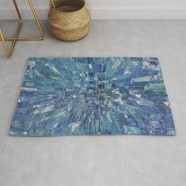 Abstract blue pattern 5 Rug