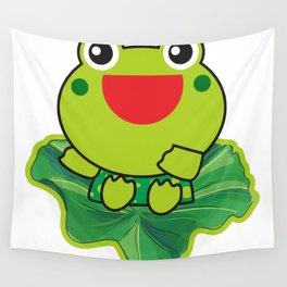 cute happy kero kerompa frog frogy Wall Tapestry