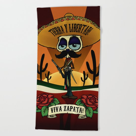 Viva Zapata! Beach Towel