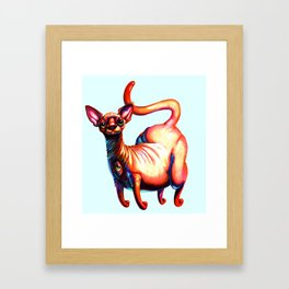 Big Booty Wrinkle Kitten Framed Art Print