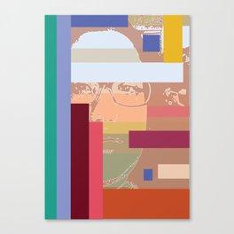 Through the blinds Canvas Print