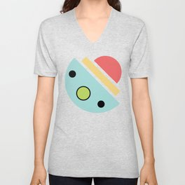 Chatty spaceship Unisex V-Neck