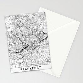 Frankfurt White Map Stationery Cards