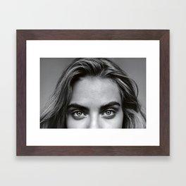 Cara devevingne Framed Art Print