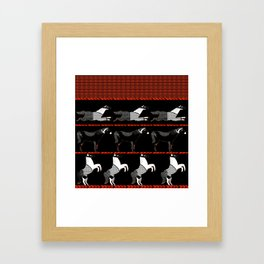 Horses and Lines Framed Art Print
