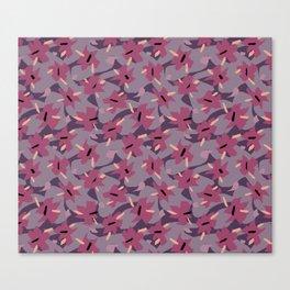 Violet Floral Canvas Print
