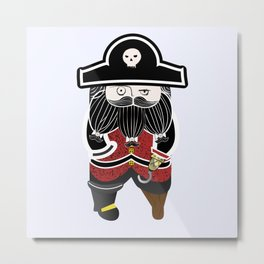 The Captain Metal Print