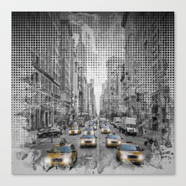 Graphic Art NEW YORK CITY 5th Avenue Traffic Canvas Print