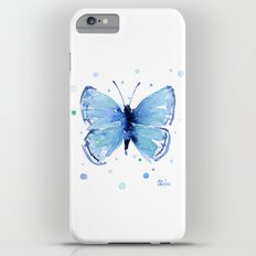 Blue Butterfly Watercolor Butterflies Animals iPhone 6 Plus Slim Case