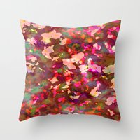 olivia joy Throw Pillows featuring OLIVIA by Charley Sedgeley