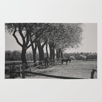 horses Area & Throw Rugs featuring Horses by Julia Dávila-Lampe